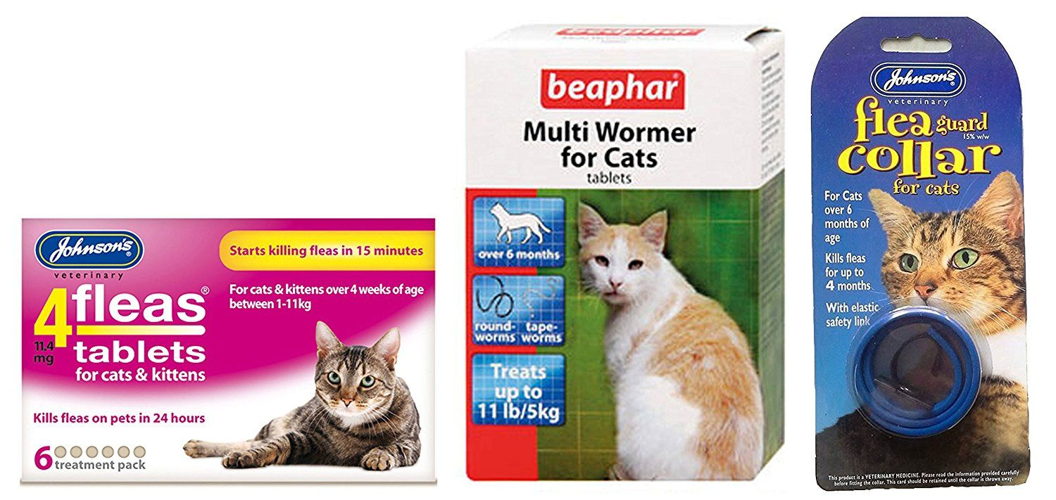 Pet Connection Long Lasting Flea Tick And Worming Kit For All