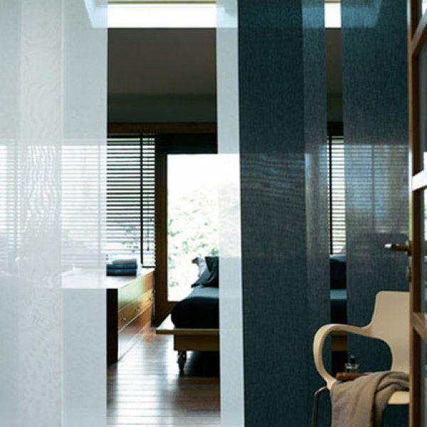 style zen avec des panneaux japonais rideau japonais. Black Bedroom Furniture Sets. Home Design Ideas