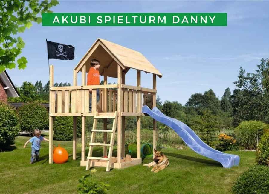 Spielturm Garten Bauen Der Akubi Spielturm Danny Lasst Kinder Herzen Hoher Schlagen Und Bietet Alles Was Das Herz Begehrt Sandkasten U In 2020 Park Slide Slide Park