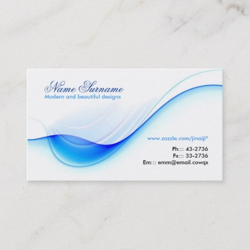 Blue Wave Business Card Design Zazzle Com In 2021 Card Design Business Card Design Creative Business Cards Creative