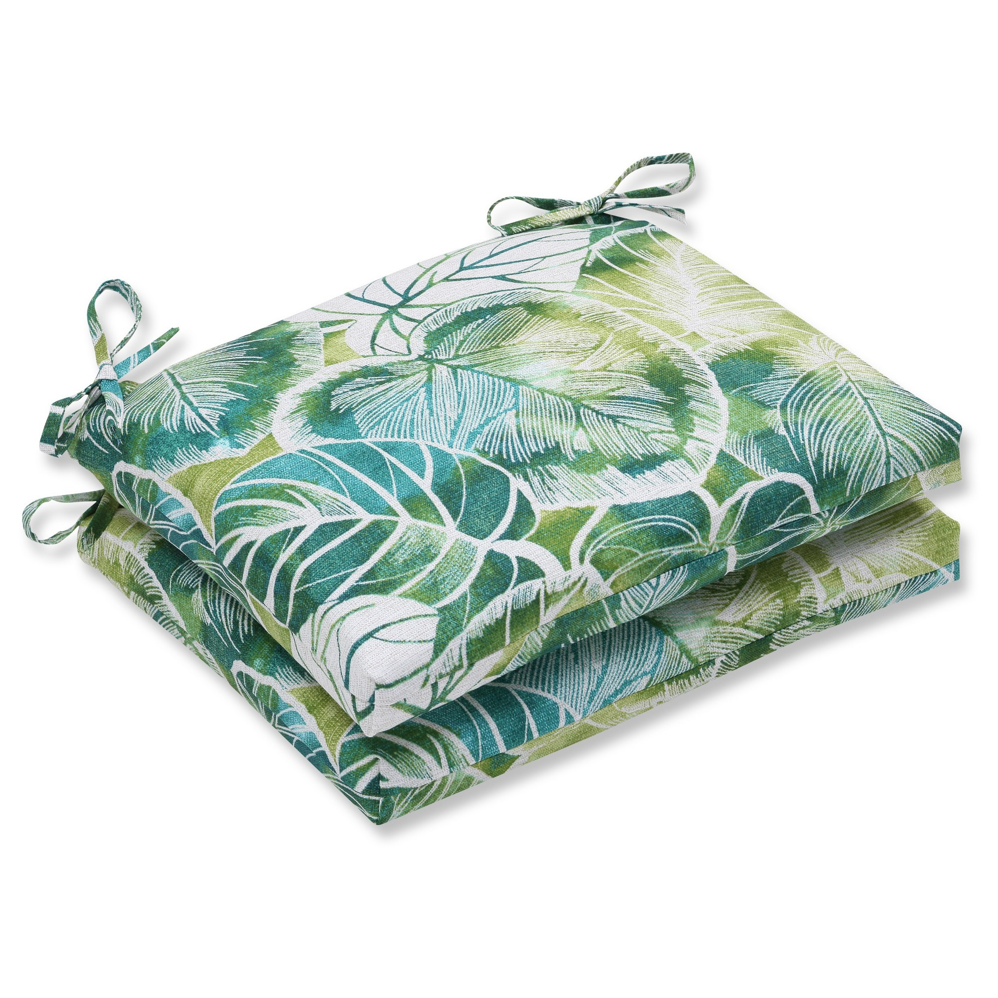 Pillow Perfect Outdoor Cushion Set Green