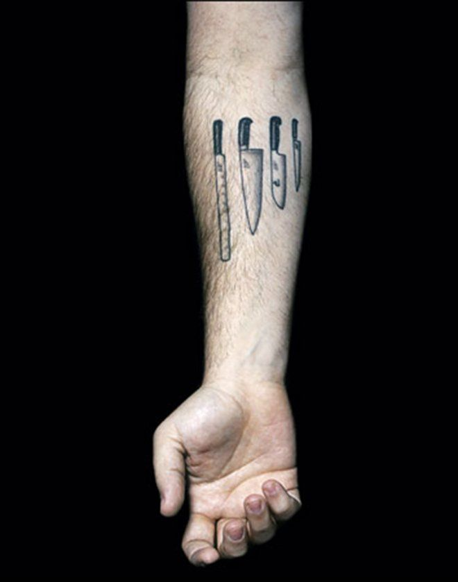 e862a428c Kitchen Knife Tats: 22 Most Awesome Culinary Tattoos | The Savory ...