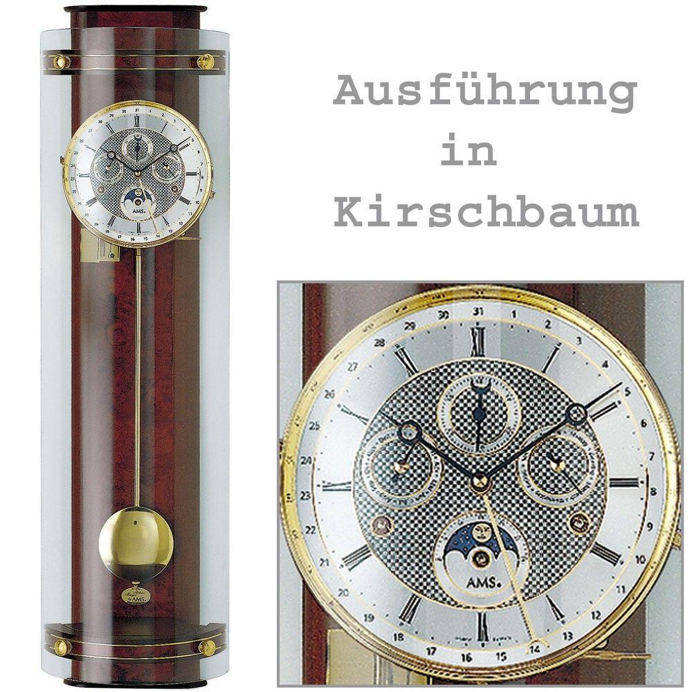 Regulateur Pendel, kirschbaum lackiertes Massivholzgehäuse 135740