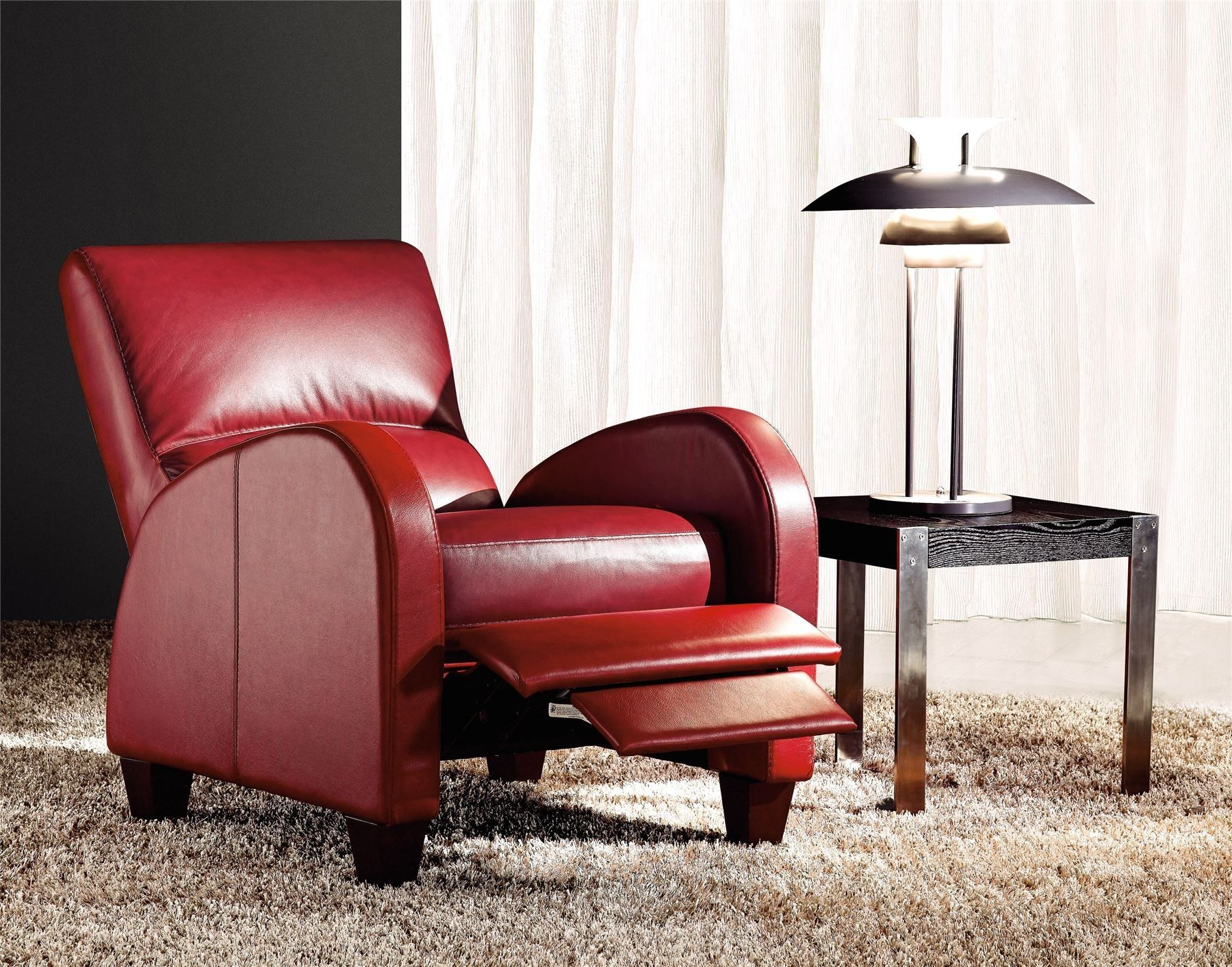 COLERAINE LEATHER RECLINER CHAIR IN RED Leather recliner