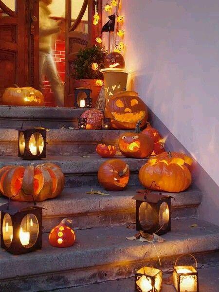 Pin by Kari Mancine on Autumn, Halloween  Thanksgiving Pinterest - how to make pumpkin decorations for halloween