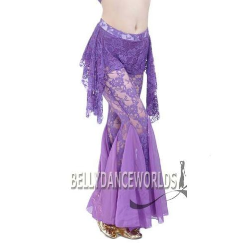 6359dbc9a BELLY-DANCE-COSTUME-TRIBAL-FISHTAIL-LACE-SARONG-SKIRT-PANTS-BOLLYWOOD- DANCING