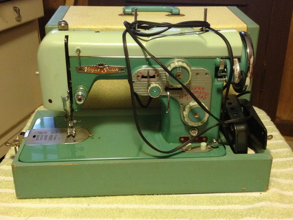 Vintage 40 Vogue Stitch Super Automatic ZigZag Sewing Machine Delectable Vogue Stitch Sewing Machine Manual