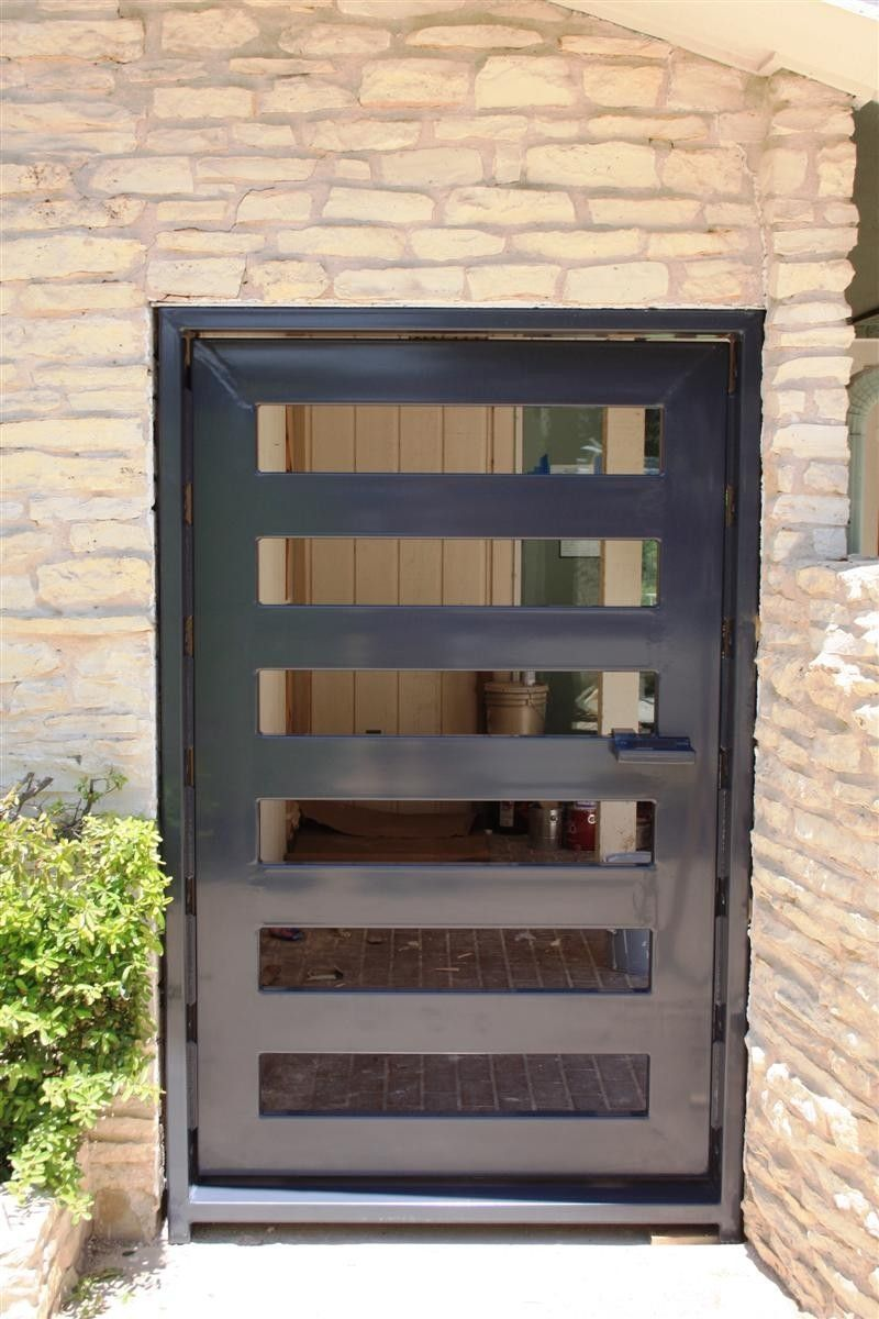 Steel Wall Compound : Contemporary compound wall gate designs