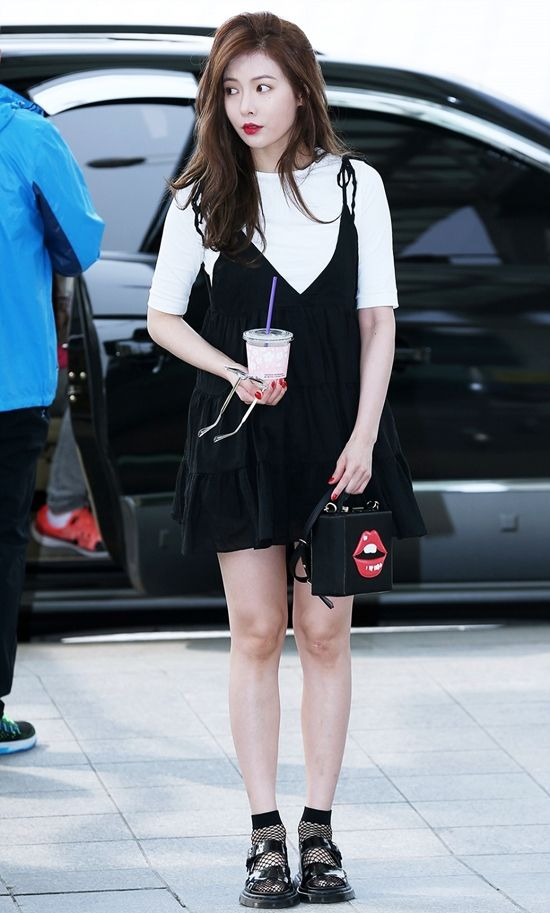 4minute Hyuna Airport Fashion Official Korean Fashion Fashion Pinterest Korean Fashion