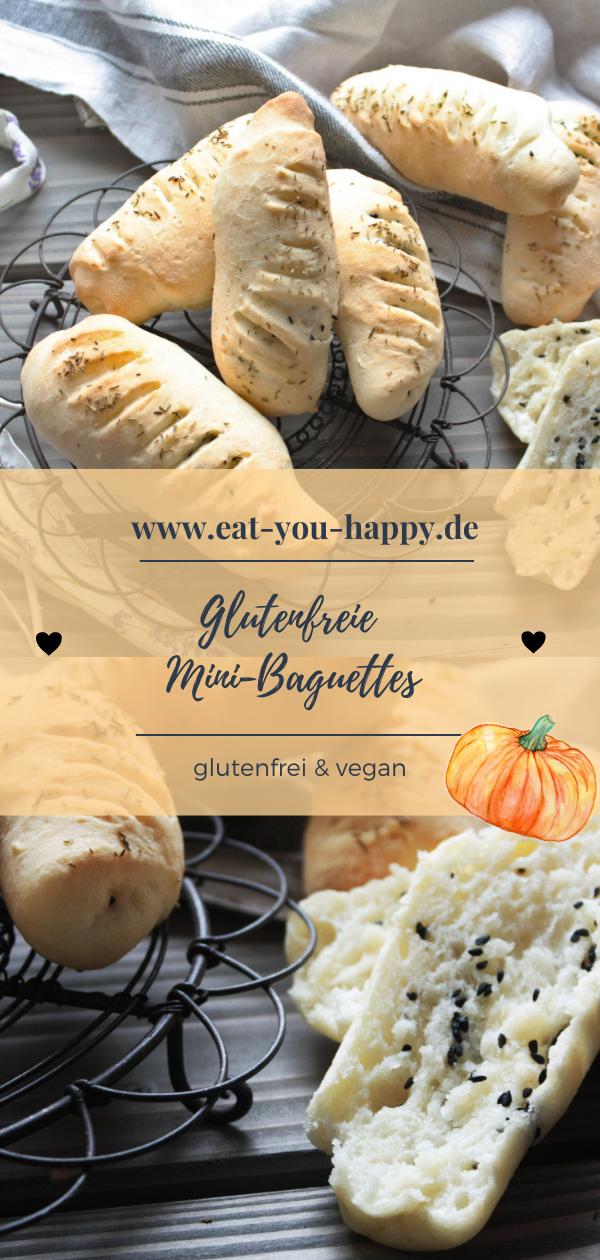 Glutenfreie Mini-Baguettes