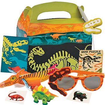 Dinosaur Dig Deluxe Filled Loot Box Party Supplies Canada Open A