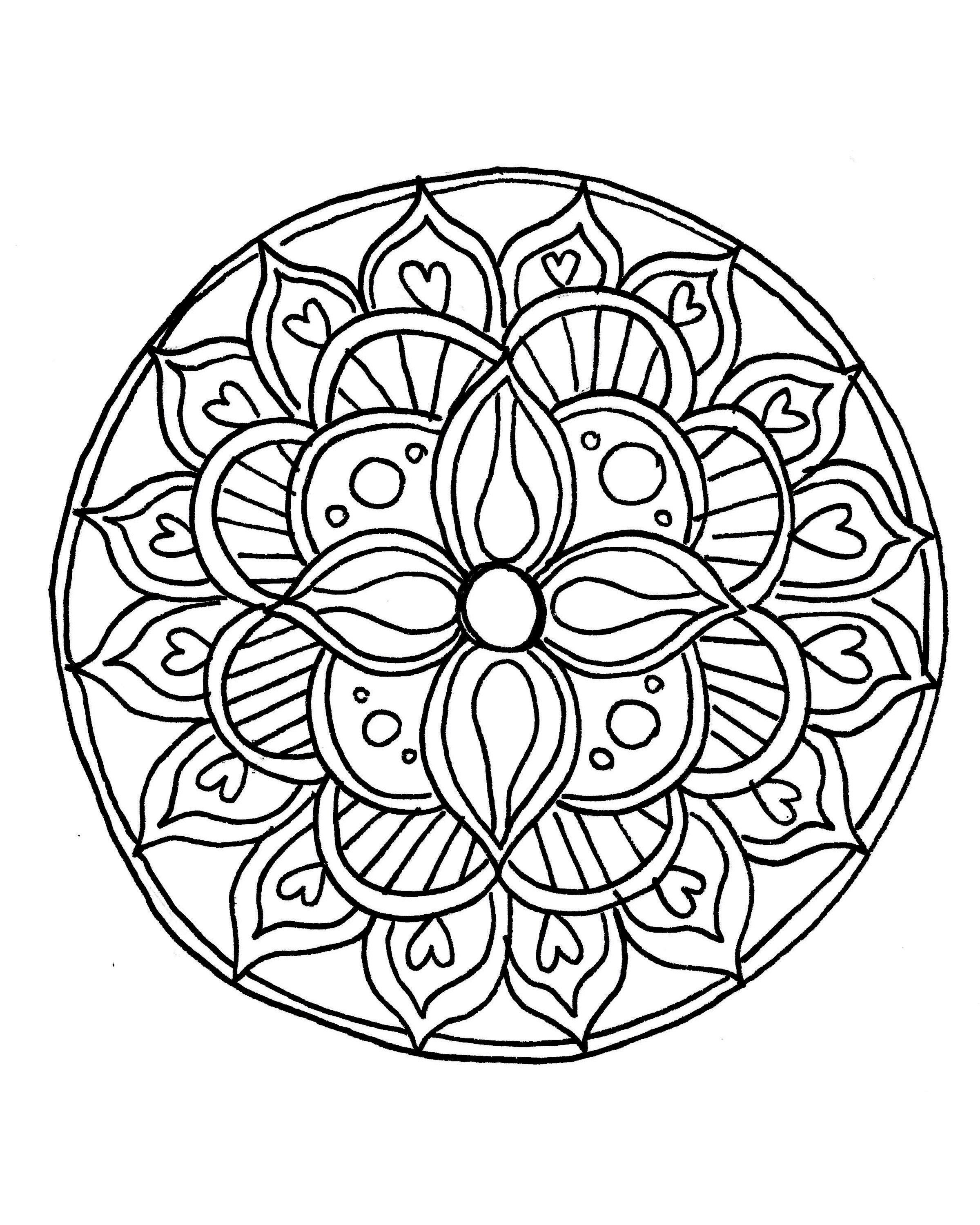 easy mandala coloring pages # 0