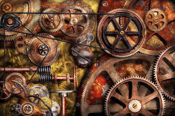 steampunk gears inner workings by mike savad on walls insulated coveralls on sale id=45271