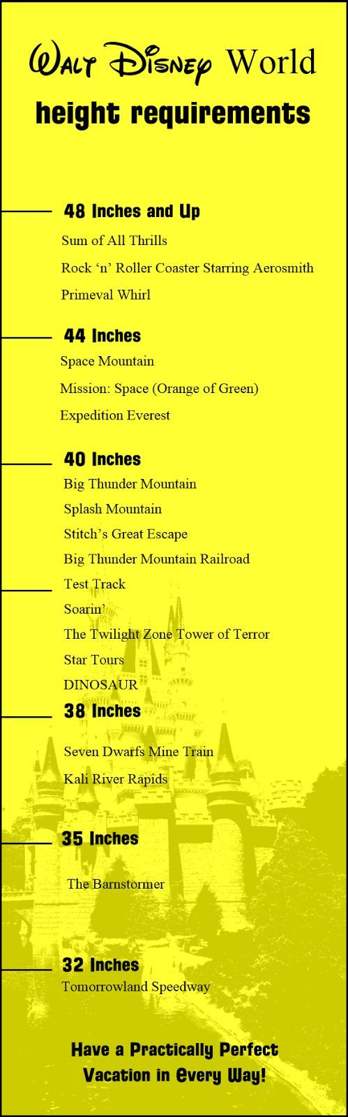 Post Has Height Requirements And Restrictions For Walt Disney World Parks Rides Attractions