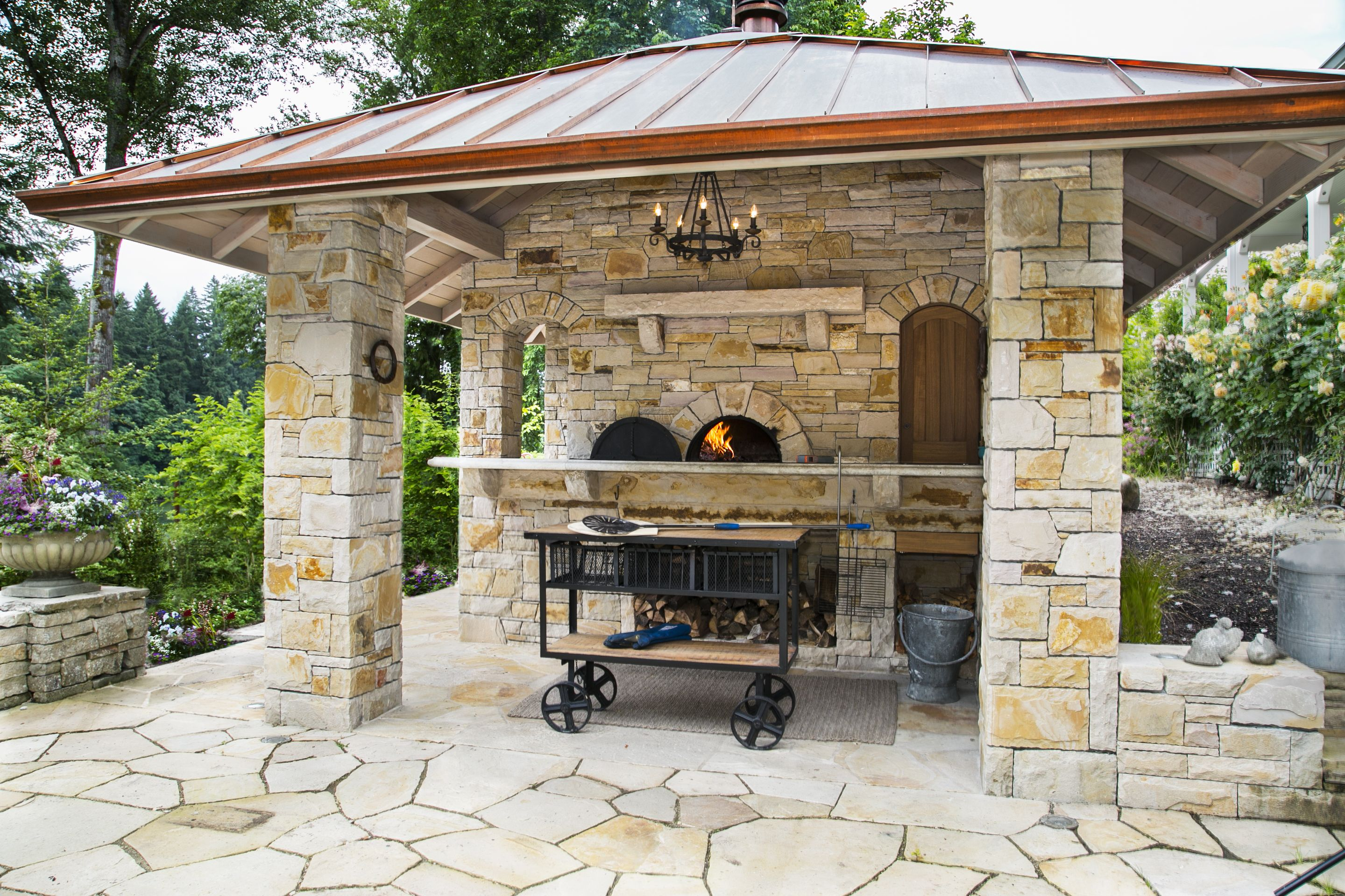 Residential oven exterior installation prima pizza oven in