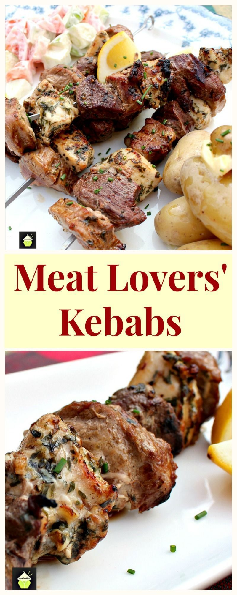 Photo of Meat Lovers' Kebabs! A trio of Beef, Pork and Chicken, with lovely marinades, al…