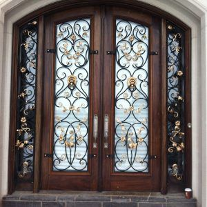 Wood And Wrought Iron Interior Doors