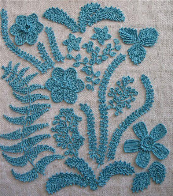 Delicadezas en crochet Gabriela: Encajes | Crochet: Irlandés ...