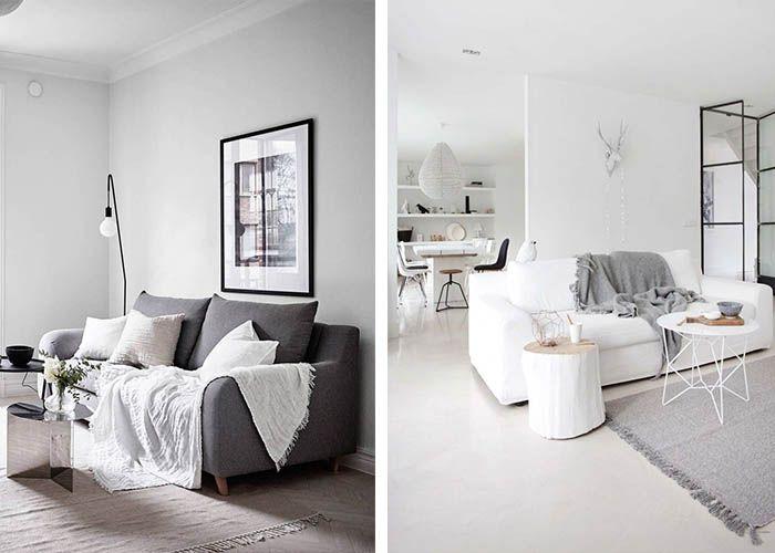 Minimalistisch Einrichten Wohnzimmer Tagesdecke Wohnzimmersofa