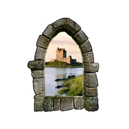 Castle Window Wall Decal Design 3  sc 1 st  Pinterest & Castle Window Wall Decal Design 3 | Home - Bathroom - Guest Half ...
