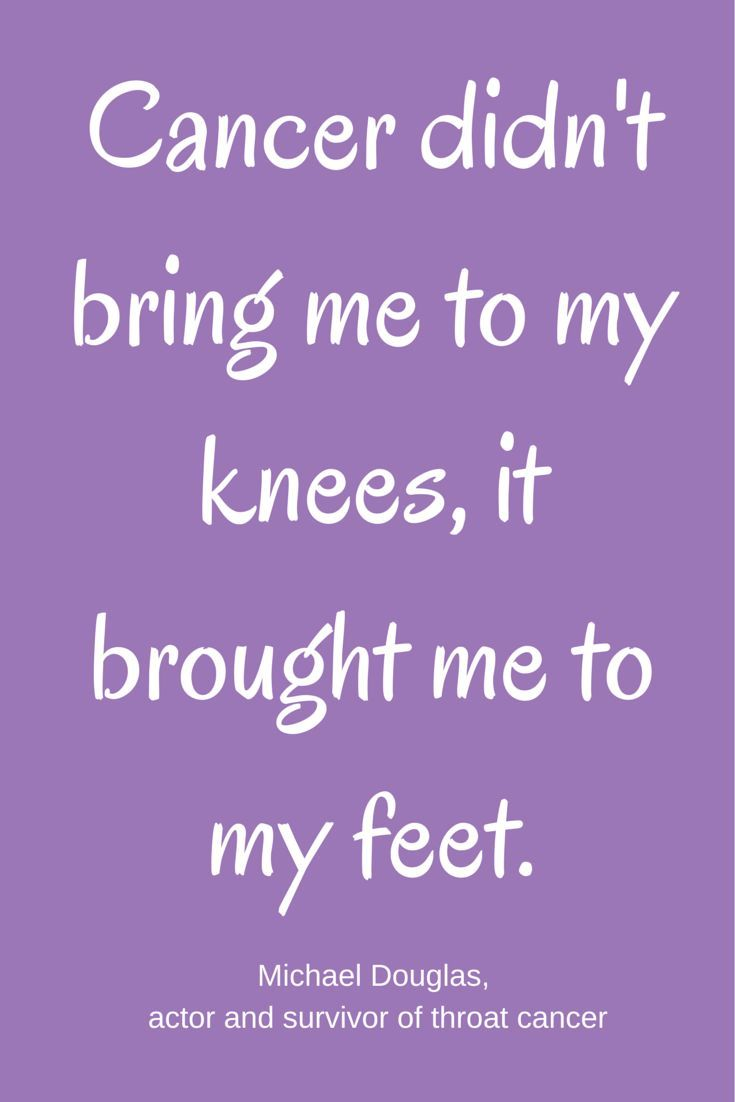 Cancer Quote Cancer Didn't Bring Me To My Knees It Brought Me To My Feet