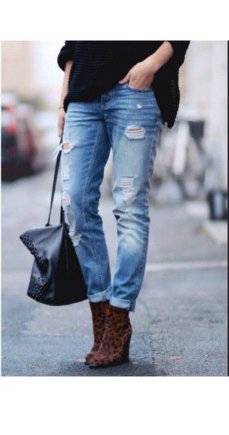 High Waisted Boyfriend Jeans - Legends Jeans