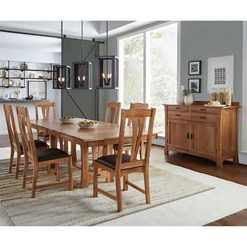 Annora 8 Piece Dining Set With Images Dining Set Dining