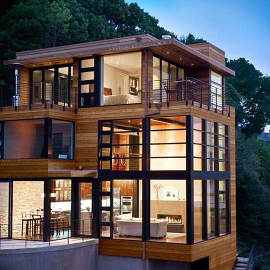 stacked house, modern