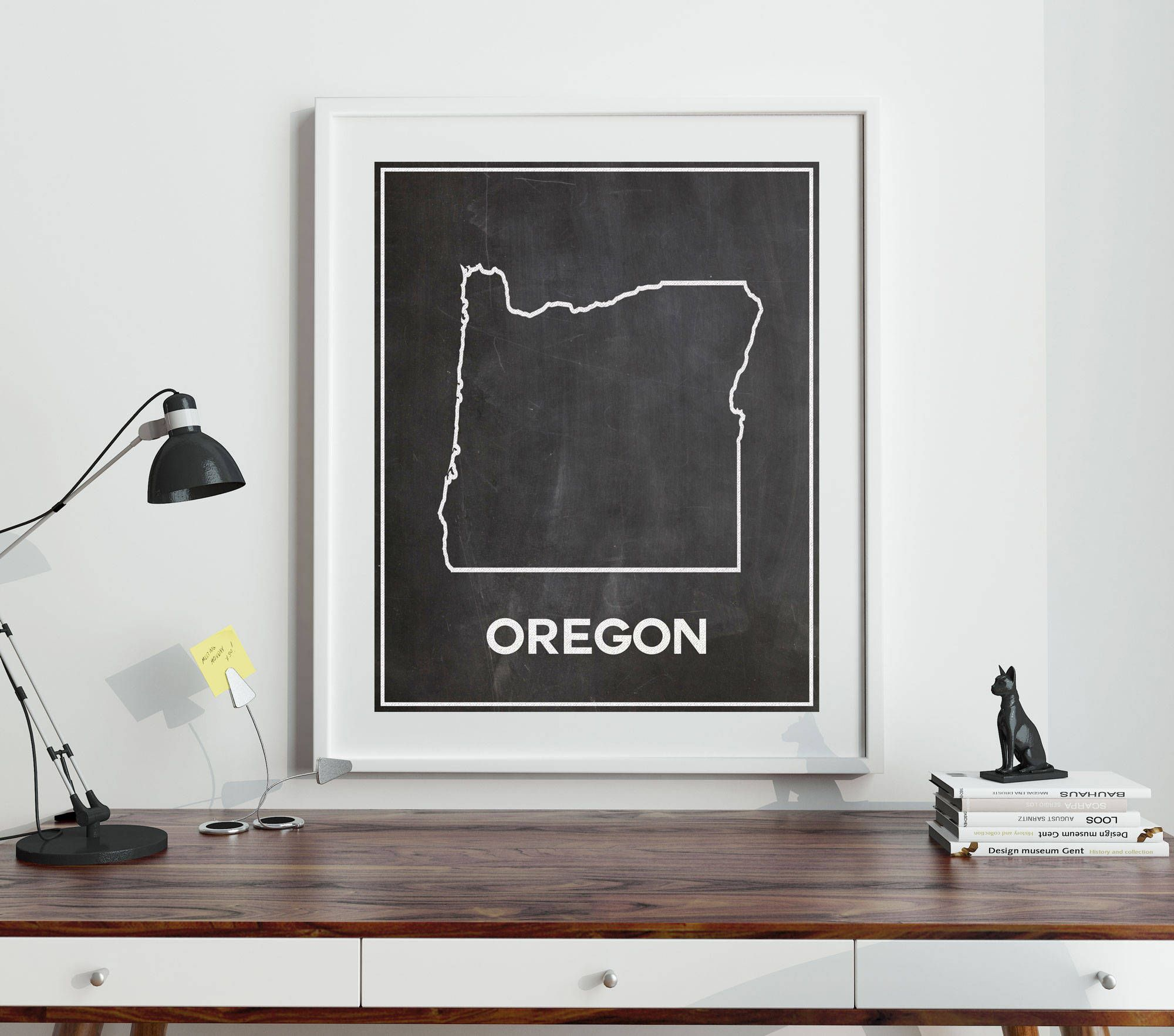 Map Of Oregon Breweries%0A Map of Oregon Poster Outline Oregon Map on Chalkboard Background Oregon  Decor Oregon State Map  sizes from  x  to   cm x   cm