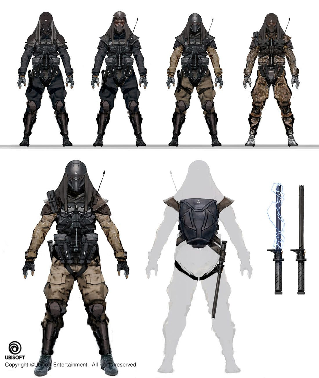 Abstergo Soldier Concepts Concept Art Characters Star Wars