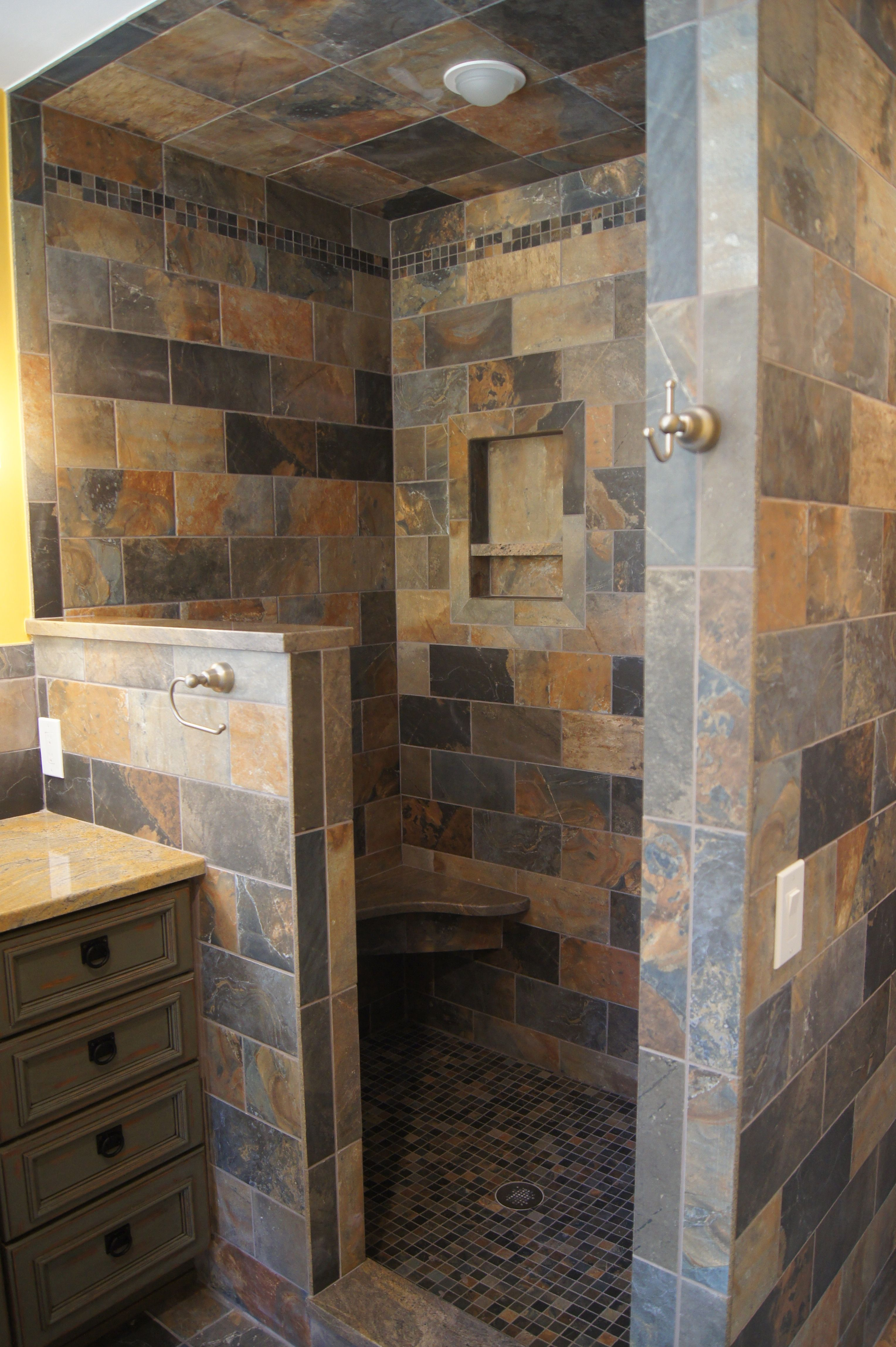 absolutely love open showers | Bathroom remodel shower ...
