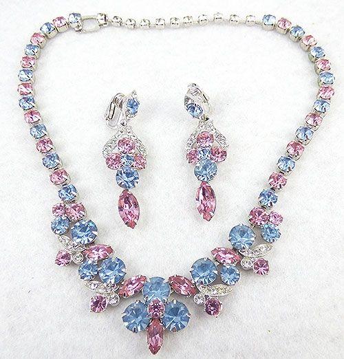 Pink Rhinestone Jewelry Set