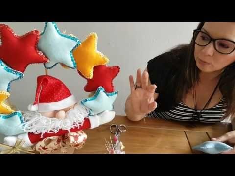 Quarta Vídeo Aula: Guirlanda Natalina - Madty Artesanato - YouTube