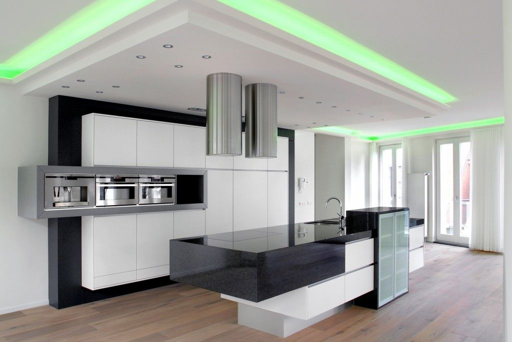 Grijze glazen keukenwand interior ideas