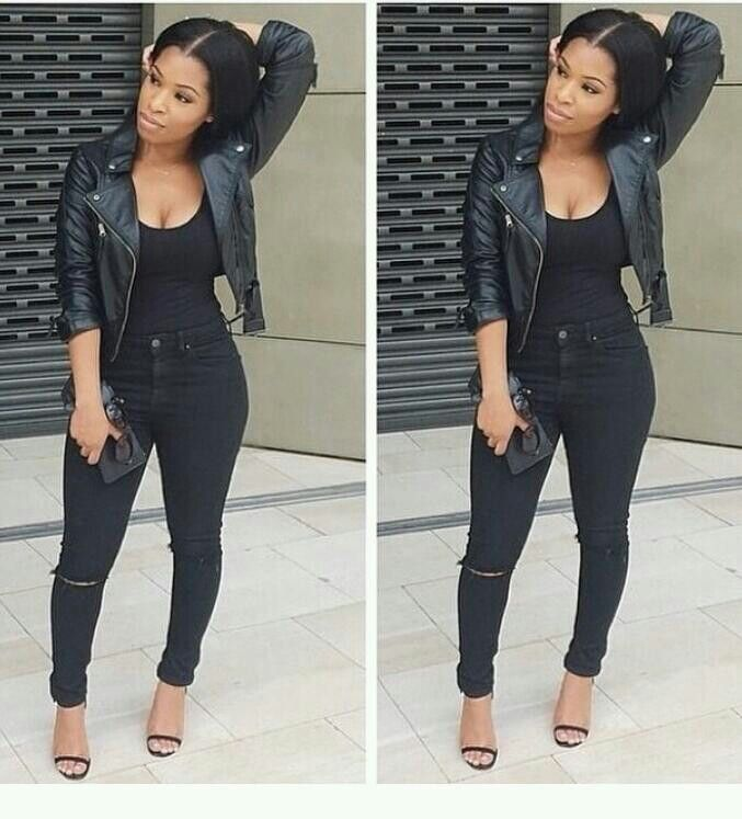 All black outfits for girls