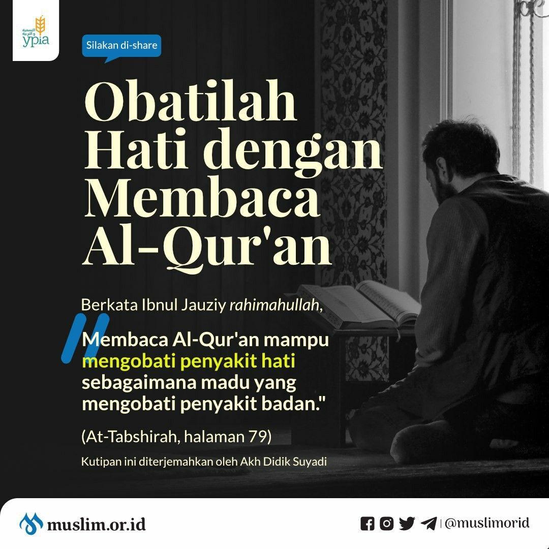 Obat Hati Membaca Alquran Quran Membaca Pendidikan