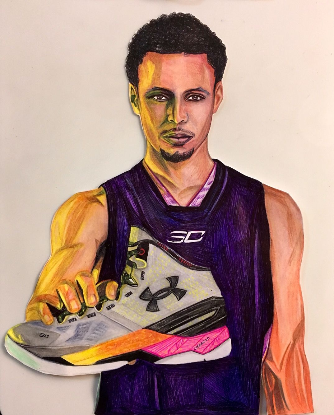 66b7178c79d Stephen Curry Under Armour artwork! Go Golden State Warriors! Personally  hand drawn.@