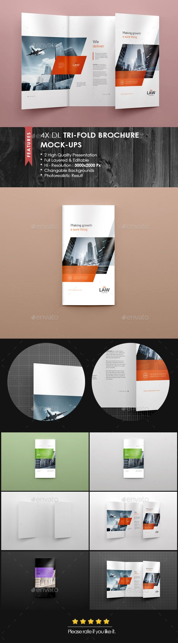 Pin By Best Graphic Design On Mockup    Brochures