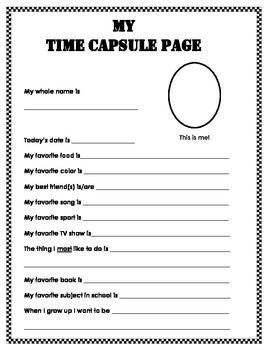 Image result for time capsule ideas 2018 | Preschool | Pinterest