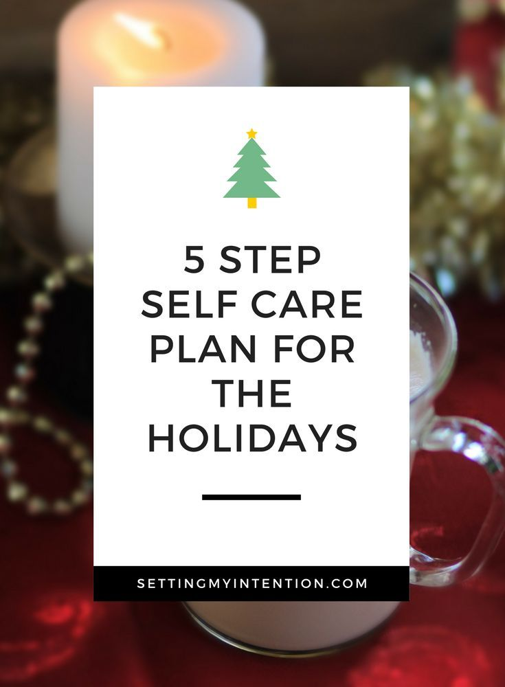 5 Step Self Care Plan for the Holidays Care plans and Holidays - care plan