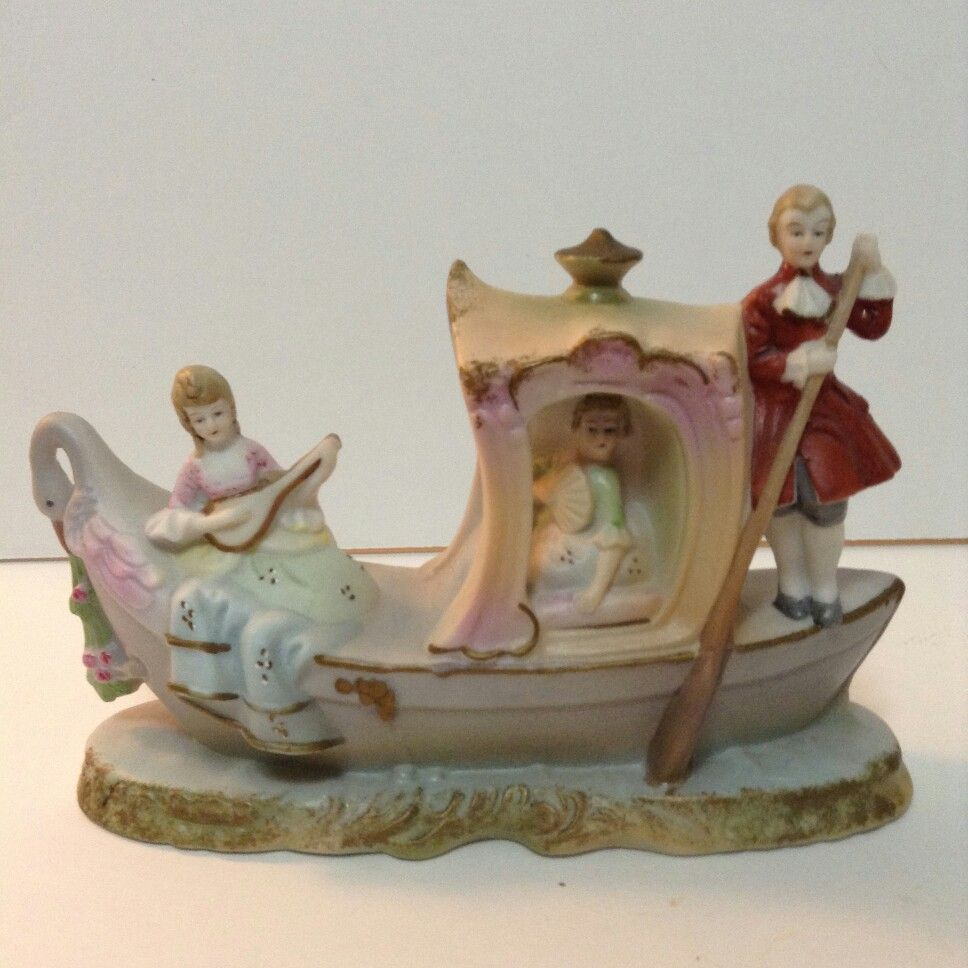 For Sale Auction Vintage Figurine Made In Japan People In A Boat Http Stores Ebay Com Tovascollectibles Ebay Figurines Auction
