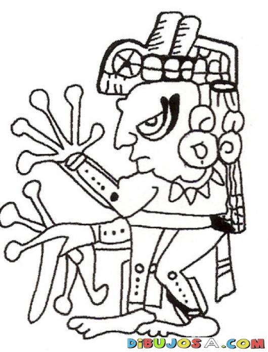 Dibujo Maya Con Manos De Rana Para Pintar Y Colorear   COLOREAR ...
