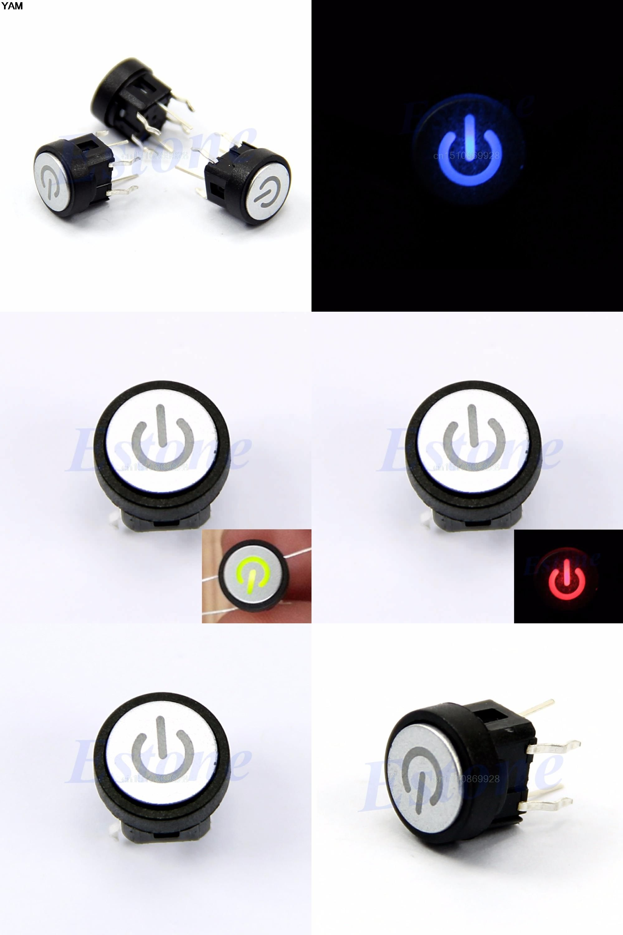 Visit to buy 1pc push button green led light power symbol push visit to buy push button green led light power symbol push button momentary latching computer case touch switch biocorpaavc Choice Image