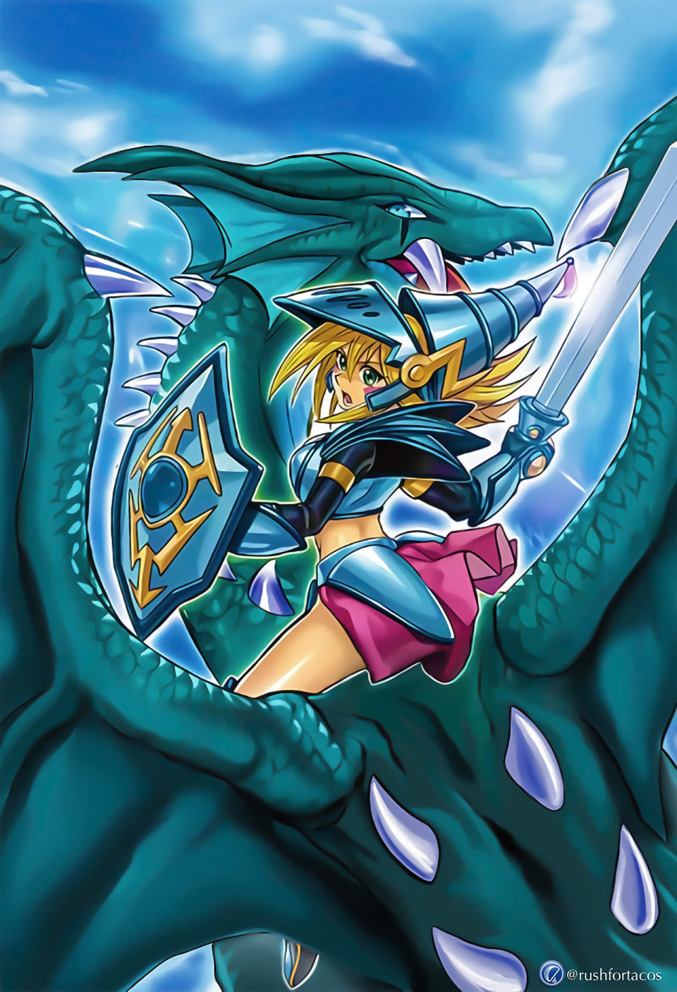 Dark Magician Girl The Dragon Knight FULL ARTWORK by Yugi ...