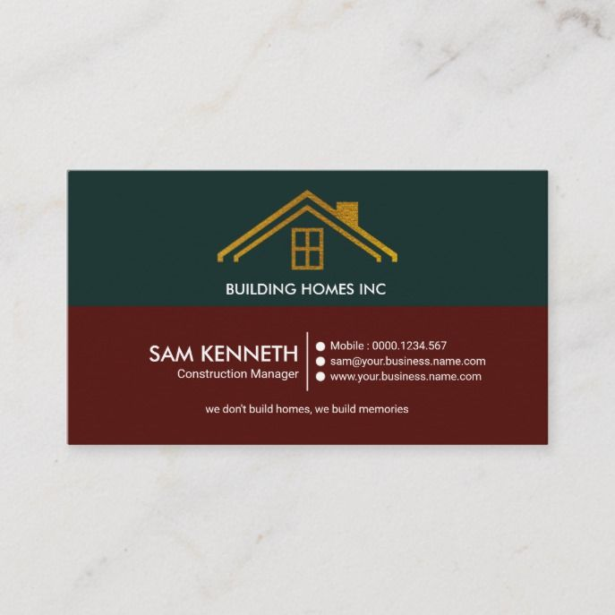 Retro Elegant Simple Gold Roof Home Construction Business Card Zazzle Com In 2021 Construction Business Cards Graphic Design Business Card Construction Business