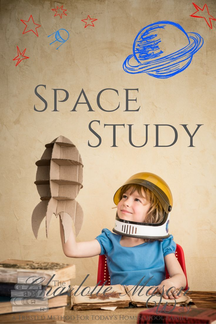 A complete space study including living books for astronauts, the solar system, spaceships & shuttles, for your Charlotte Mason homeschool.