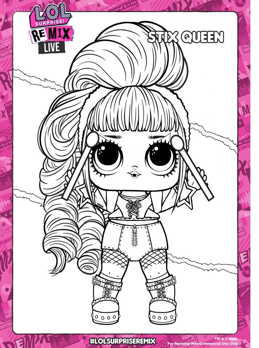 Lol Surprise Remix Coloring Pages And Activity Pages Youloveit Com Coloring Pages Free Printable Coloring Pages Lol Dolls