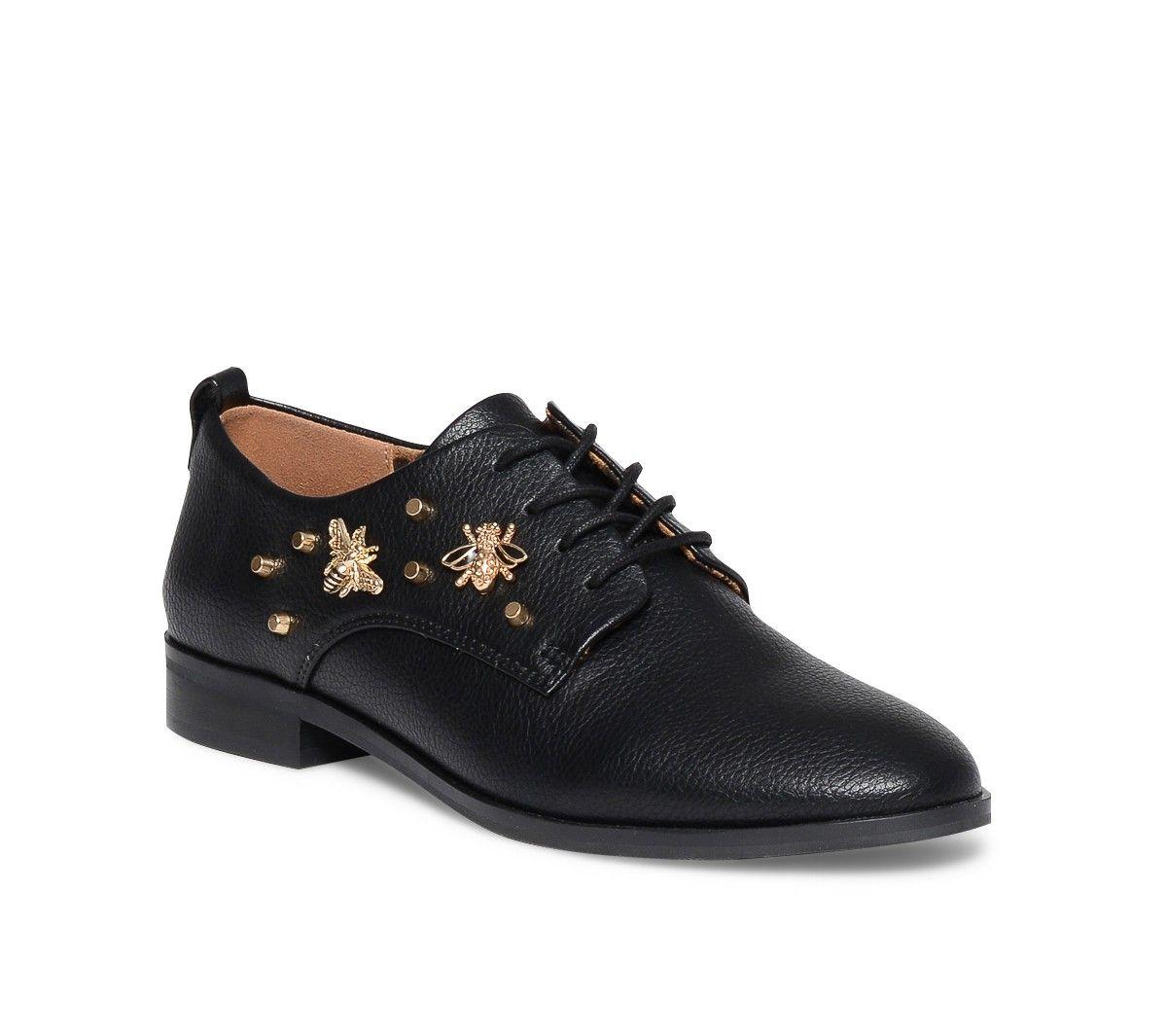 af125ba6f4c8 Derby noir bijou-abeille - Derbies - Chaussures femme