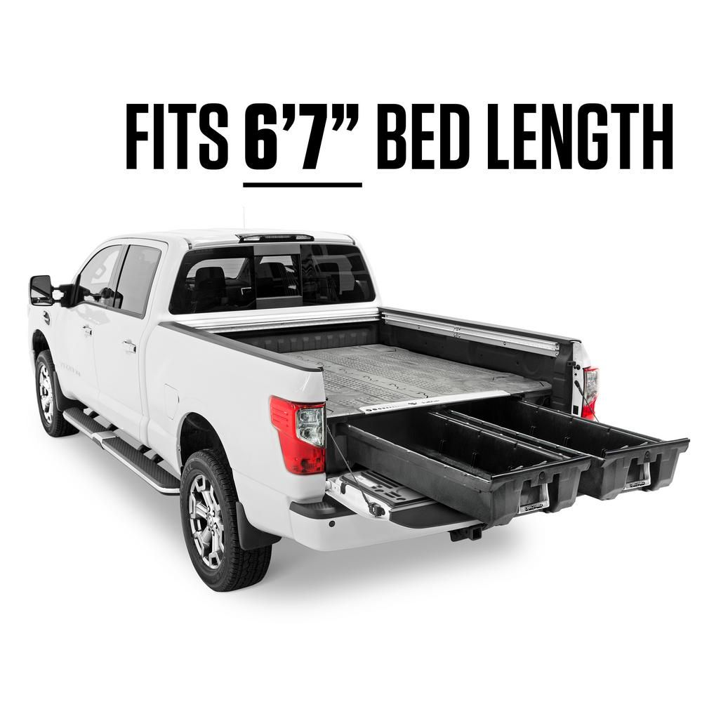 Decked 6 Ft 7 In Bed Length Pick Up Truck Storage System For Nissan Titan 2004 Current In 2020 Truck Storage Truck Bed Storage Truck Bed