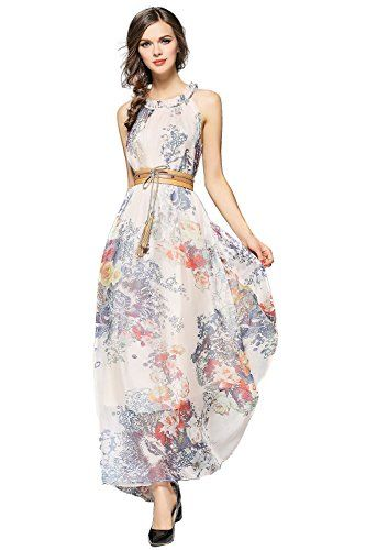 a094edc9d94 Joy EnvyLand  Women Floral Evening  Party Summer  Casual  Prom Loose Maxi  Long Dress  theladybuff  amazon.com